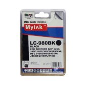 Картридж для brother dcp-145c/6690cw/mfc-250c (lc980bk) black (16ml, pigment) myink